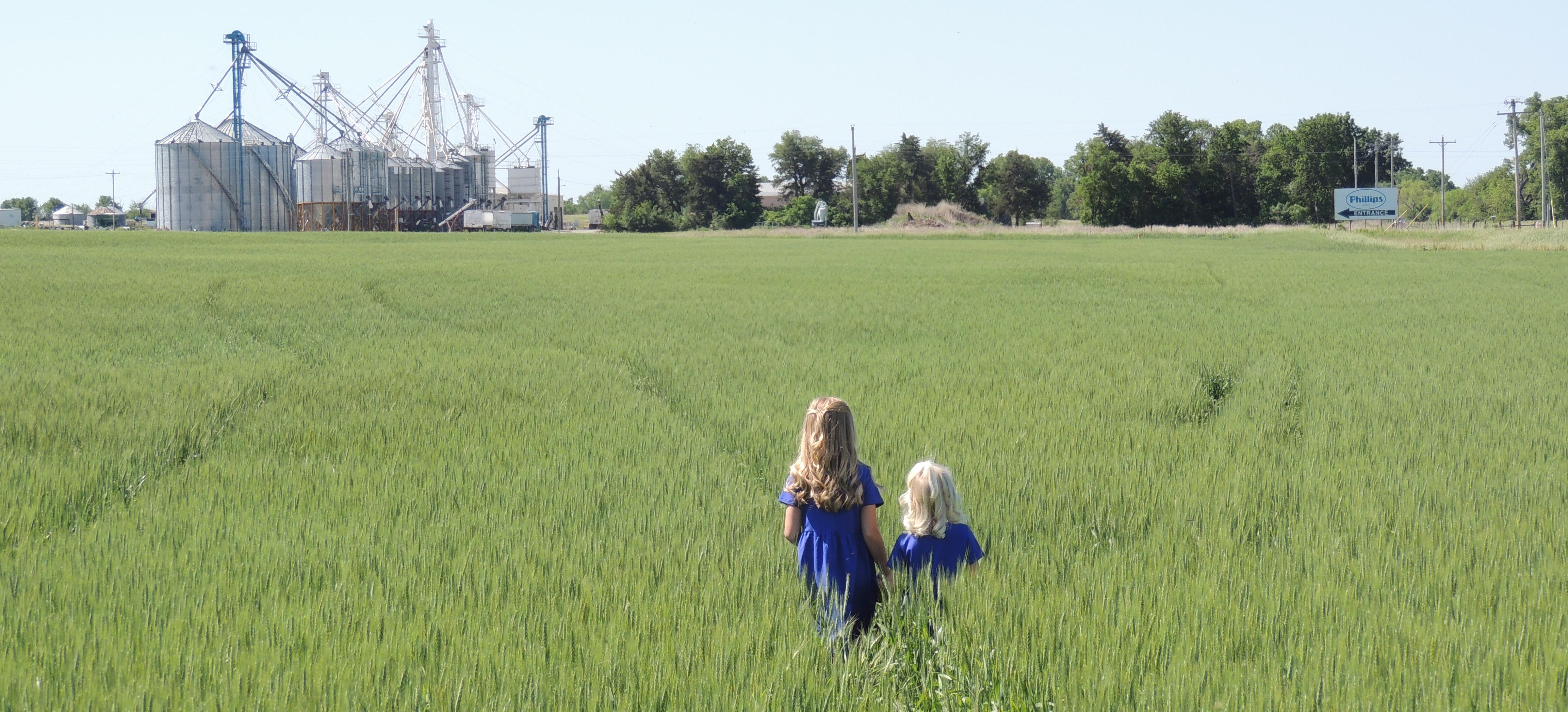 Allison Photo Girls in Wheat Field Lands