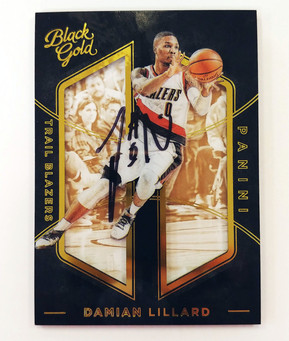 Kevin Durant and Damian Lillard Signed Basketball Cards