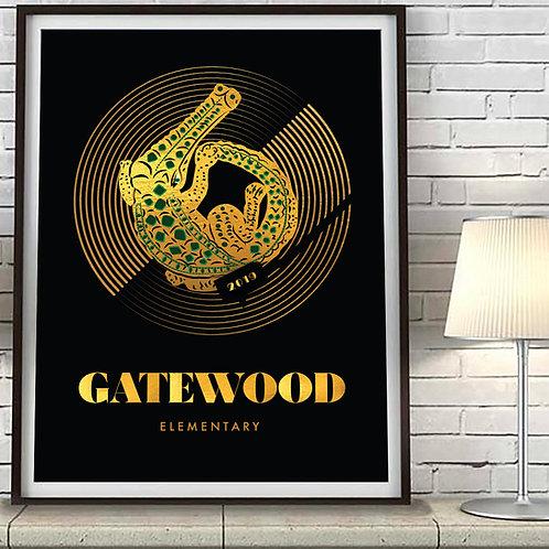 70's Gold Gatewood Art Print