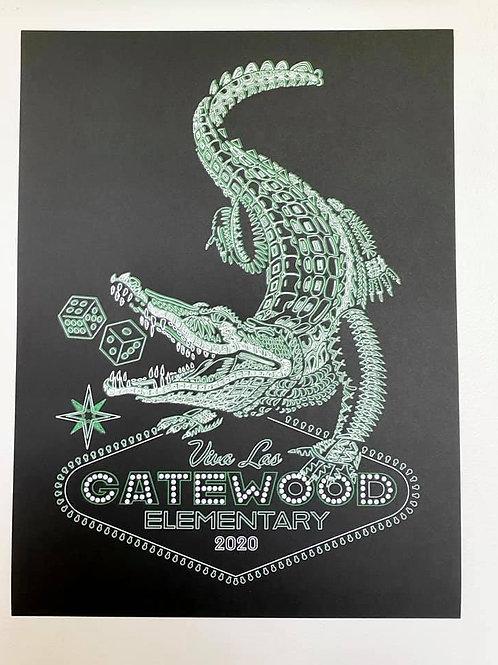 Viva Las Gatewood Art Print
