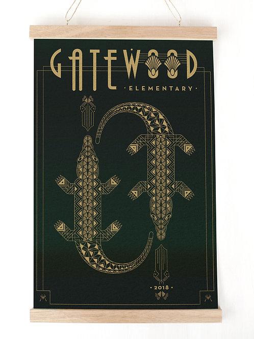 Art Deco Gatewood Art Print