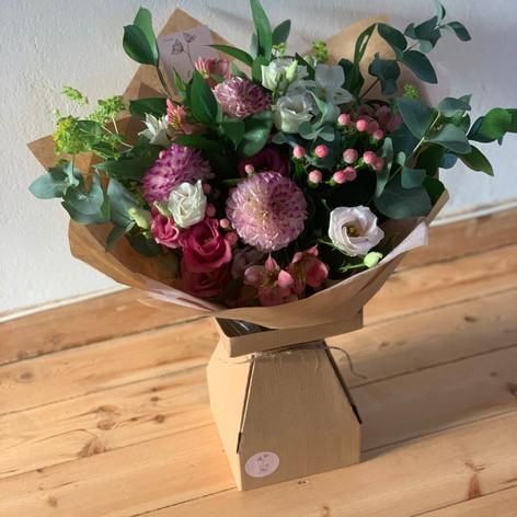 Bouquet in Living vase