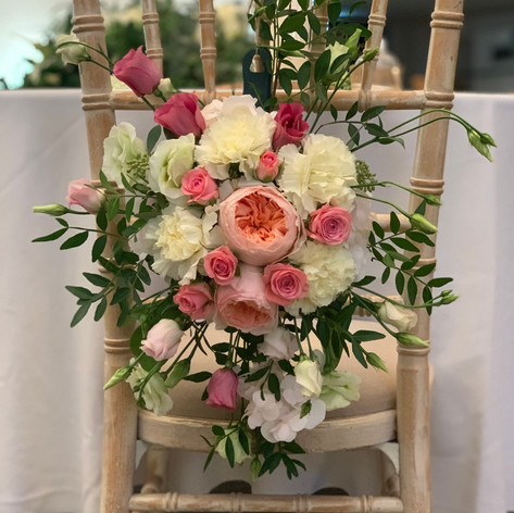 Wedding chair swag