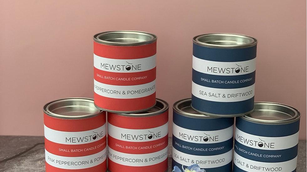 Mewstone Candle Tins