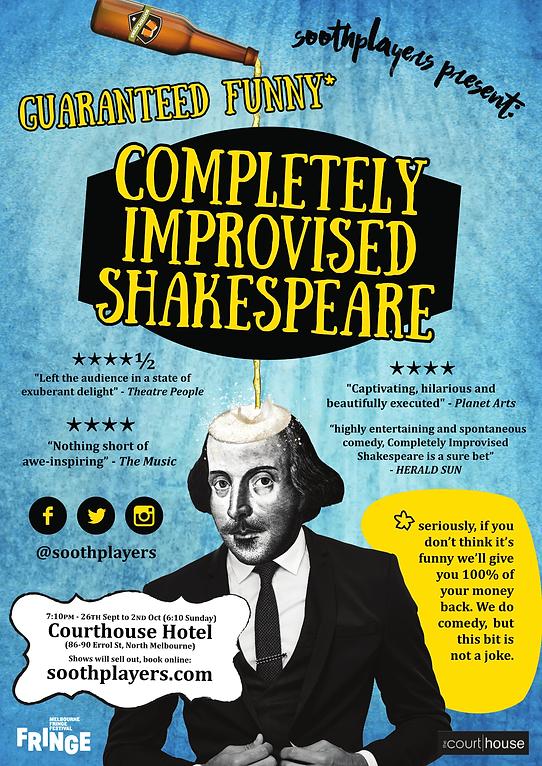 Melbourne Fringe Festival Completely Improvised Shakespeare Poster