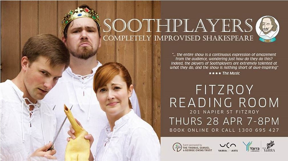 Soothplayers Shakespeare 400 Fitzroy Library