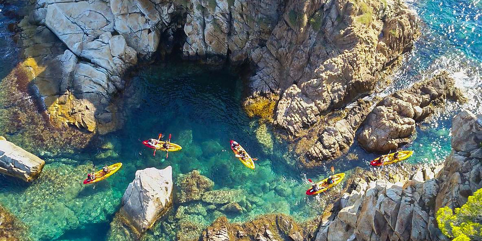 Kayak y senderismo en la Costa Brava