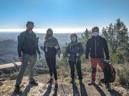 Hike up to Santa Creu d'Olorda
