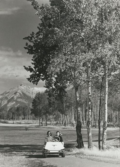 Old Golf Cart on Cart Path