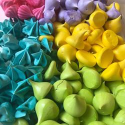 colorful mini meringues