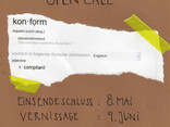 """OPEN CALL 2016: """"konform"""" Ausstellung"""