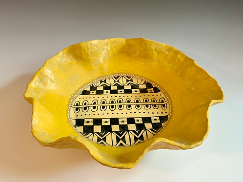 Large Platter in Yellow Ochre
