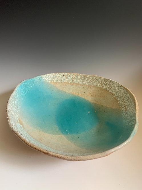 Bowl with Blue Glaze