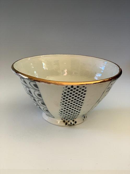 Salt fired porcelain bowl #103