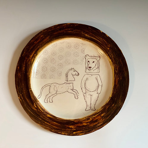Large Plate with Bear