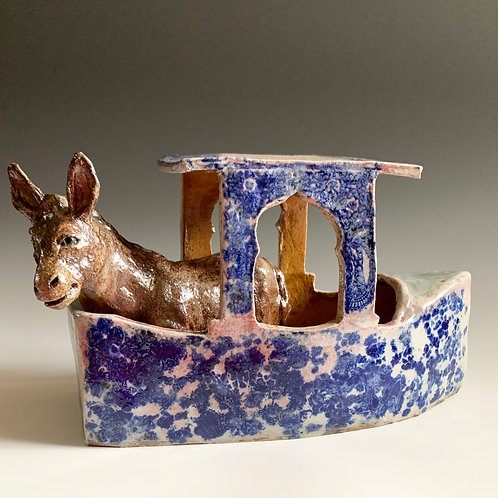 Cobalt Boat with Burro
