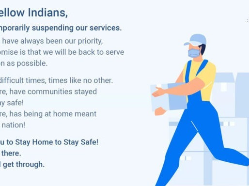 Flipkart temporarily suspends services