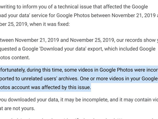 Google accidentally shared your cloud video backups with strangers