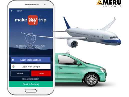 MakeMyTrip has partnered with MeruCabs to offer sanitized cabs at major airports