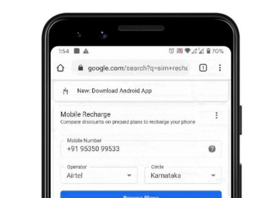 Google search launches prepaid mobile recharge thru Paytm, Freecharge, Google Pay & Mobikwik