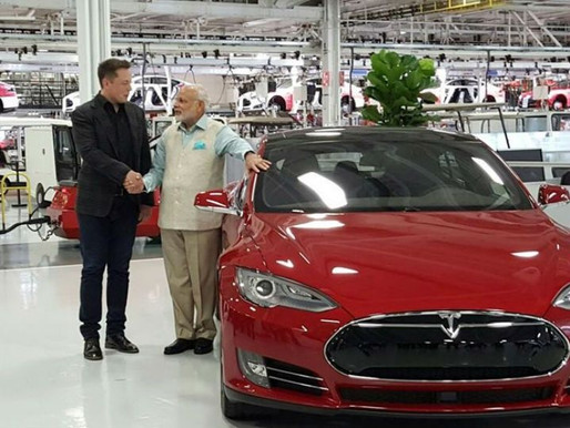 NITI Aayog's VC urges Tesla to make electric cars in India assuring tax benefits