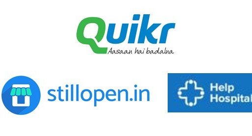 Quikr launched StillOpen for retail consumers & HelpHospitals for medical supplies