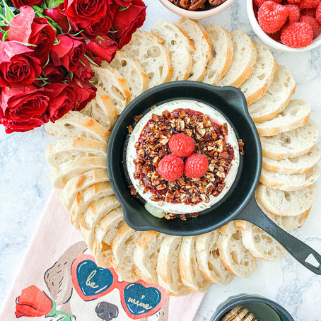Raspberry Rose Baked Brie