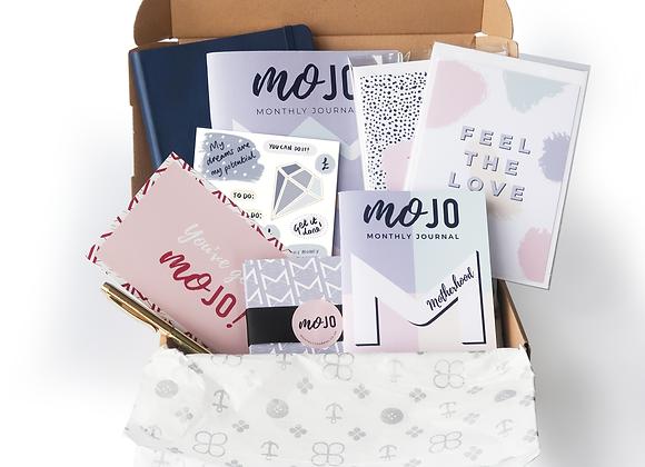 Pop your MOJO Motherhood Box