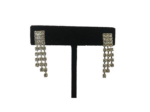Chic Graduated Diamanté Drop Earrings