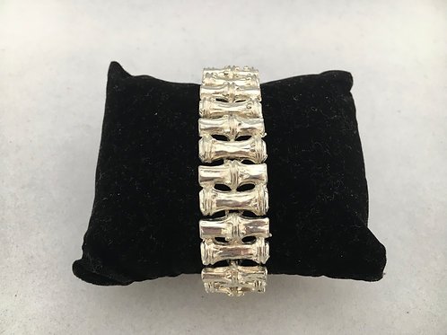 Chunky Metal Bamboo Effect Bracelet