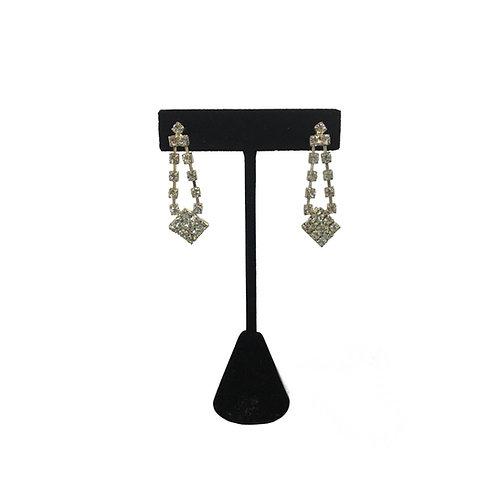Glamorous Long Drop Diamanté Earrings