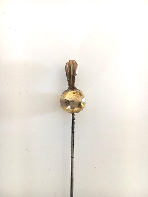 Victorian Gilt Metal Bead Long Hatpin