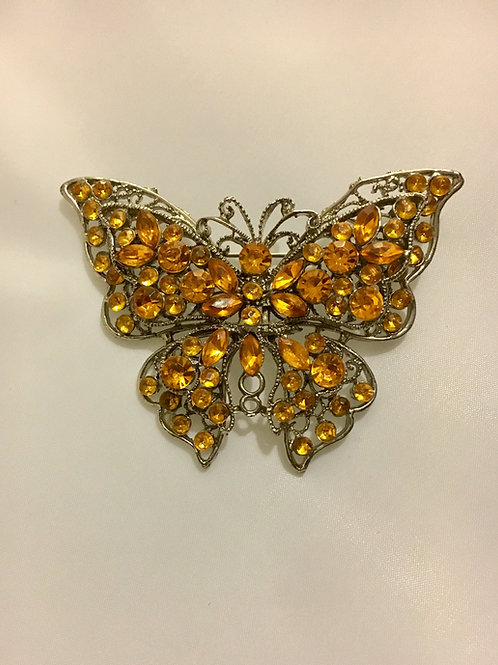 Sunny Bright Yellow Paste Butterfly Brooch