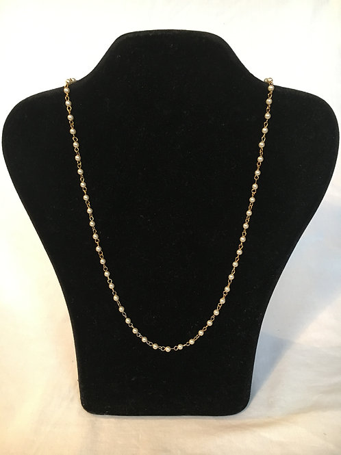 Delicate Pearl and Gilt Necklace