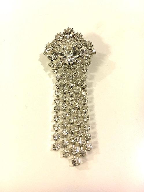 Super Sparkly Diamanté Tassel Brooch