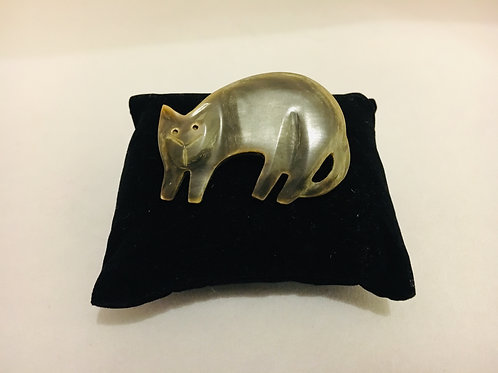 Unbelievably Cute Vintage Early Plastic Cat Brooch