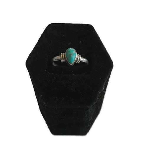 Sweet Little Turquoise 925 Silver Ring