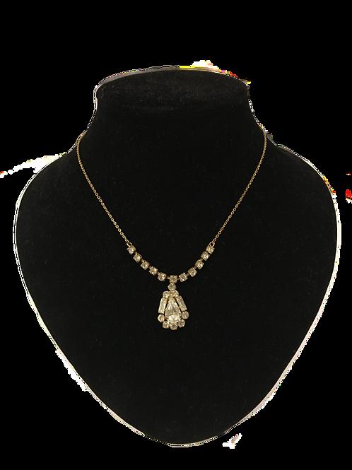 Gorgeous Vintage Diamanté Pendant Necklace