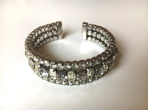Statement Sparkle Diamanté Bangle Cuff