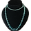 Thumbnail: Long Blue Strand of Faceted Fabulous Flapper Beads