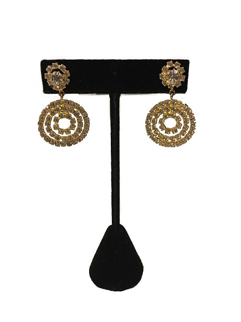 Perfect Party Diamanté Circle Earrings