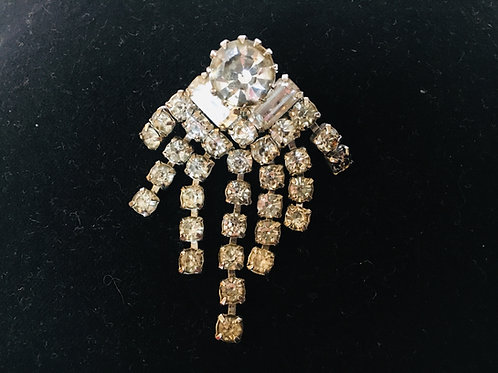 Vintage Diamante Starburst Brooch