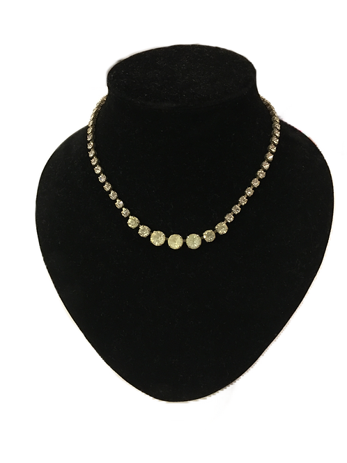Simple Graduated Diamanté Necklace