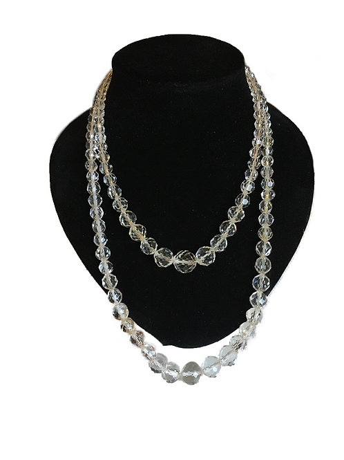 Sumptuous Double Row Crystal Bead Necklace