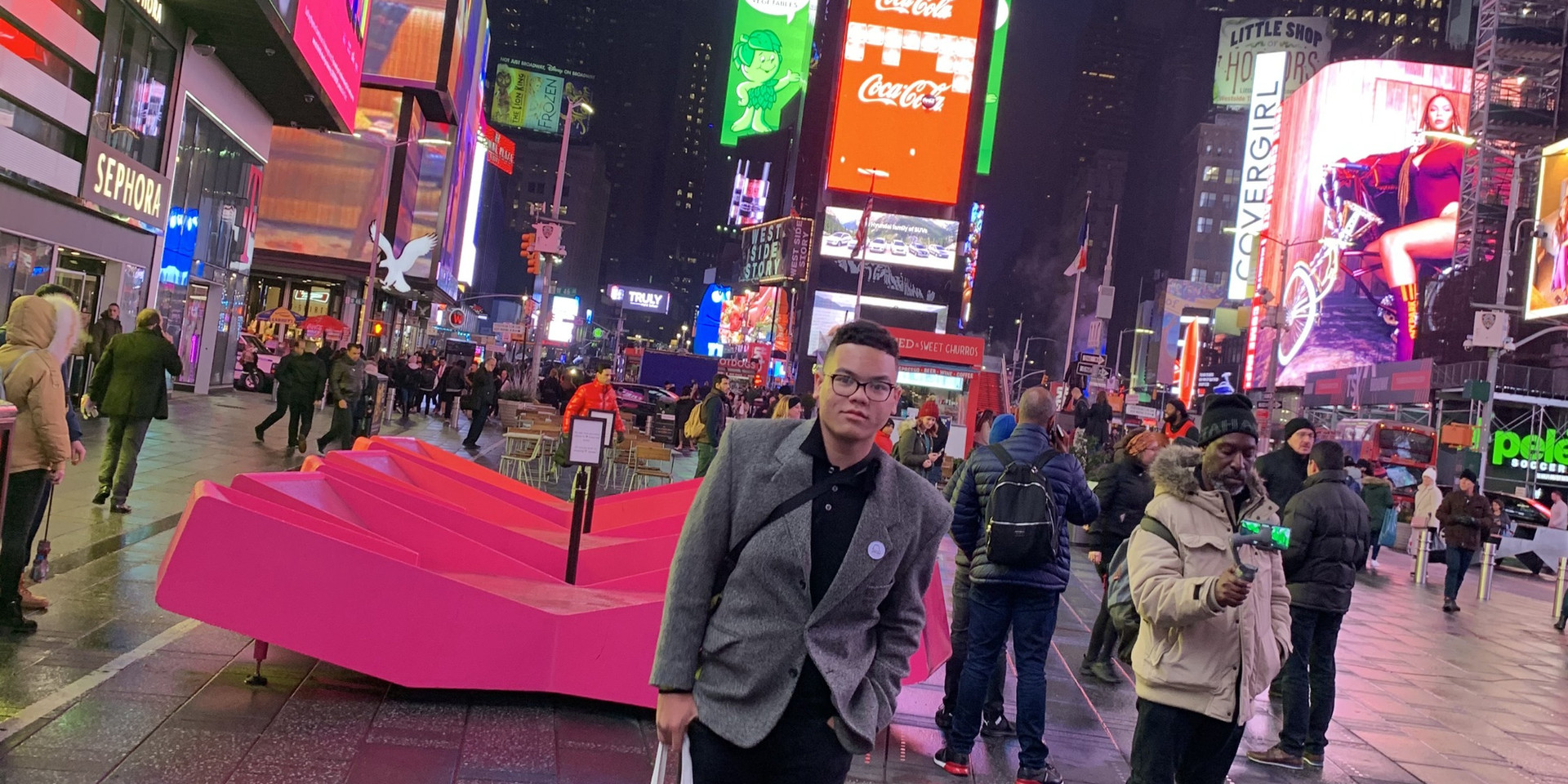 Mhoon Man in Times Square