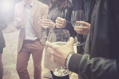 group of friends drinking wine, people i