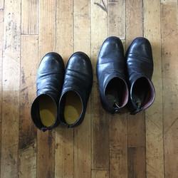 ショートブーツ(ヒール2cm)