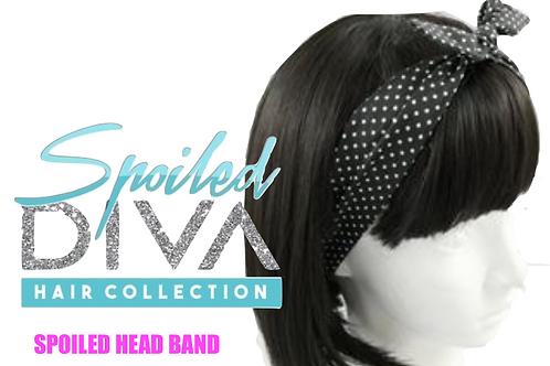 Black / White Spoiled Head Band