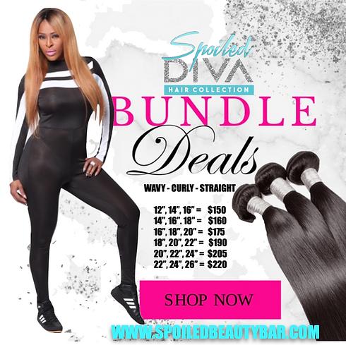 Spoiled Diva hair bundle deals