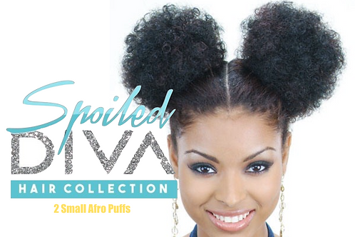 2 Medium Synthetic Afro Puffs